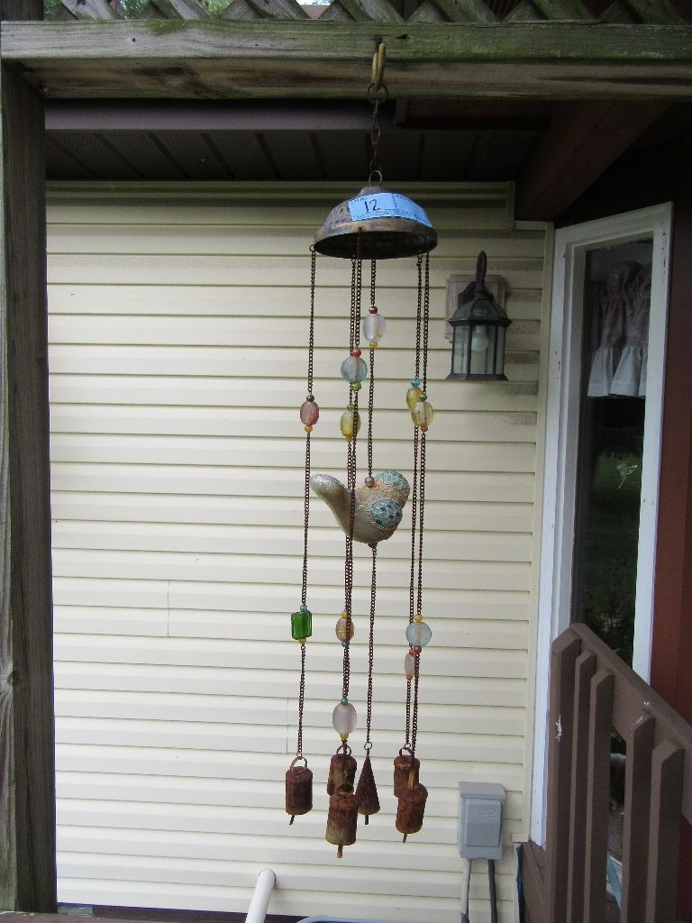 WIND CHIME WITH GLASS BIRD & B    Auctions Online | Proxibid