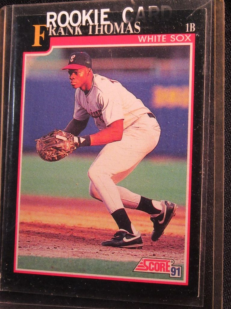 Lot 3 Frank Thomas Cards Fleer 1992 Number 712 And Score