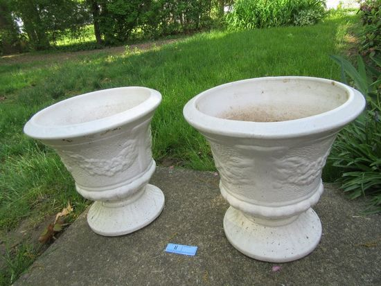 PAIR OF CERAMIC PLANTERS