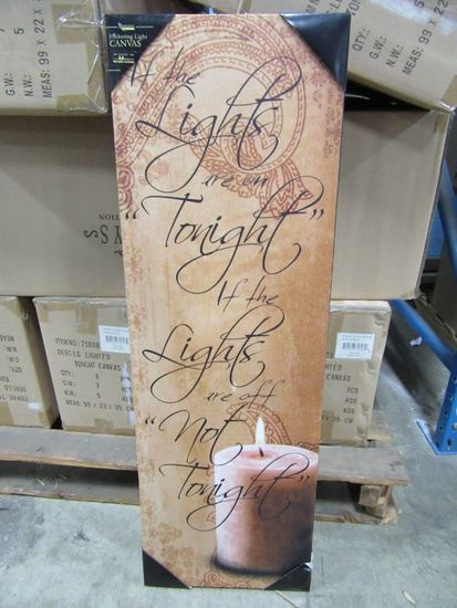 10 CASES OF LARGE LIGHTED TONIGHT CANVAS. 6 PIECES PER CASE