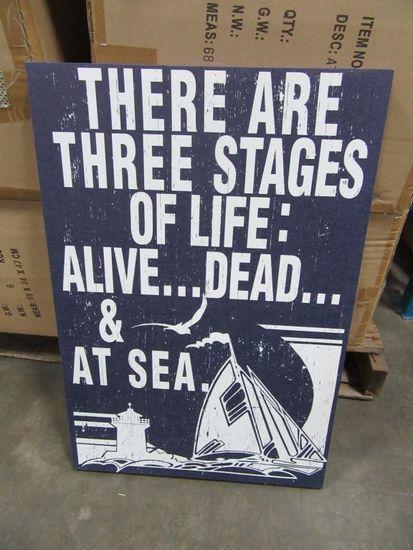 9 CASES OF AT SEA CANVAS. 10 PIECES PER CASE