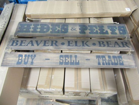 16 CASES OF LARGE ADVERTISING TRAPPER SIGN. 4 PIECES PER CASE