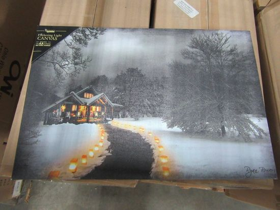 16 CASES OF LIGHTED LUMINARY CANVAS. 8 PIECES PER CASE