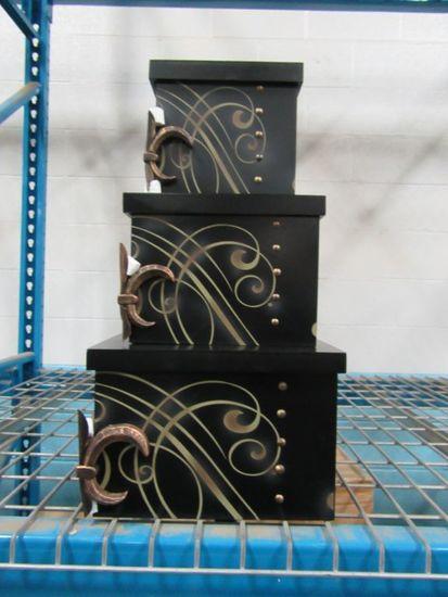13 CASES OF FLEUR DE LIS NESTED BOXES SET. 2 PIECES PER CASE