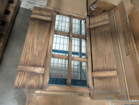 20 CASES OF WEATHERED WOOD TABLE WALL MIRROR. 3 PIECES PER CASE