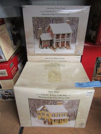 2 AMERICAN WINTER SCENES AND 1 EARLY WINTER FROM THE  CURRIER AND IVES COLL