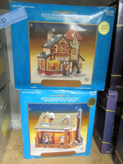 SANTA'S WORKBENCH COLLECTION FISHERMAN'S BLUFF CABINS, AND FATHER TIMES CLO