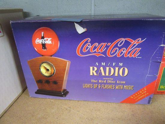 COCA-COLA AM FM RADIO FEATURING THE RED DISC ICON