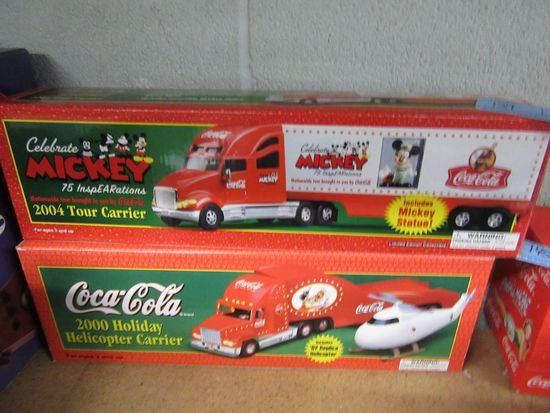 COCA-COLA 2004 TOUR CARRIER CELEBRATE MICKEY AND 2000 HOLIDAY HELICOPTER CA