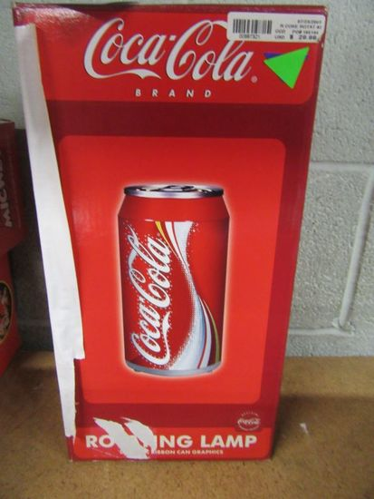 COCA-COLA BRAND ROTATING LAMP DYNAMIC RIBBON CAN GRAPHICS