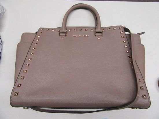 MICHAEL KORS LIGHT BROWN PURSE