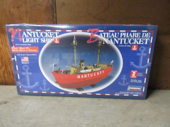 NANTUCKET LIGHT SHIP MODEL. NEVER BEEN OPEN