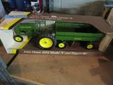 JOHN DEERE 1934 MODEL A TRACTOR AND WAGON SET