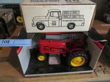 MASSEY HARRIS CALL TRACTOR AND MASSEY HARRIS 1955 PICK UP TRUCK BANK
