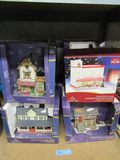 VARIETY OF CHRISTMAS PORCELAIN LIGHTED HOUSES
