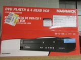 MAGNAVOX DVD PLAYER & 4 HEAD VCR
