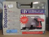 SHOP SOURCE 18 V CORDLESS 3/8 INCH DRILL