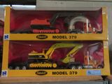 2  NEW RAY PETERBILT CONSTRUCTION SERIES MODEL 379