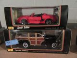 MAISTO  SPECIAL EDITION MUSTANG MACH 3 AND 1948 CHEVROLET FLEET MASTER WOOD