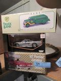 BP TRUCK BANK, 1962 PONTIAC CATALINA MODEL KIT AND SALEEN 57 DIECAST CAR