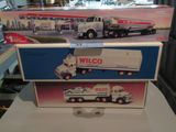 1997 COLLECTOR'S EDITION EXXON TANKER TRUCK, WILCO TOY TRUCK BANK, AND WILC