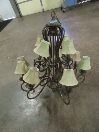 12 LIGHT CANDELABRA CHANDELIER