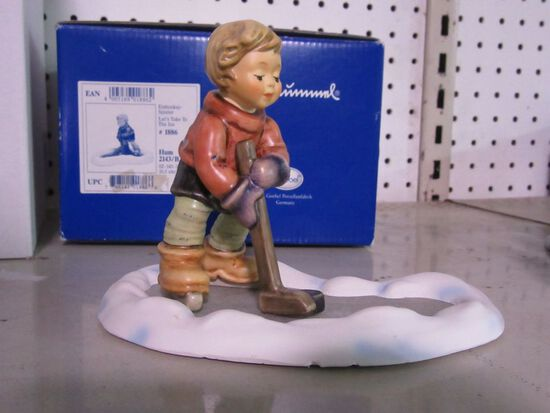 GOEBEL FIGURINE LET'S TAKE TO THE ICE HUM 2143/B