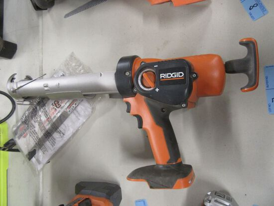 RIDGID CORDLESS CAULKING GUN MODEL R8804. NO BATTERY OR CHARGER