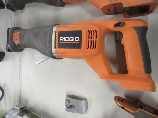 RIDGID 18 VOLT SAWZALL. MODEL NUMBER R8442. NO BATTERY OR CHARGER