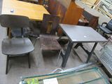 HANDICAP COMMERCIAL TABLE & 2 CHAIRS