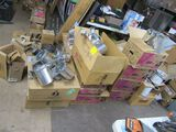LARGE AMOUNT OF JUNO DOWNLIGHTS AND SHADES. SEE PICTURES FOR MODEL NUMBERS
