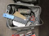 PORTER CABLE ROTARY DRYWALL TOOL, PLIERS, AND ETC WITH CASE
