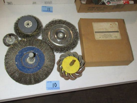 WIRE WHEELS AND GRINDING WHEEL