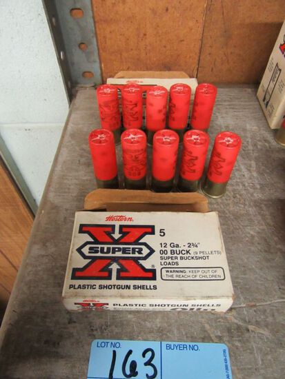 2 BOXES OF 12 GAUGE 2-3/4 INCH DOUBLE 0 BUCKSHOT. NO SHIPPING!!!