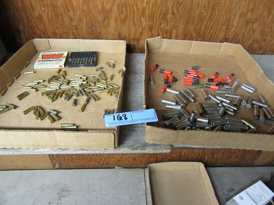38 SPECIAL SHELLS, SHELL CASINGS + 22 LONG RIFLE AMMUNITION WITH WINCHESTER