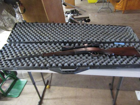 SAVAGE ARMS 300 SAVAGE RIFLE WITH WEAVER V8 SCOPE. SERIAL NUMBER 349568. CO