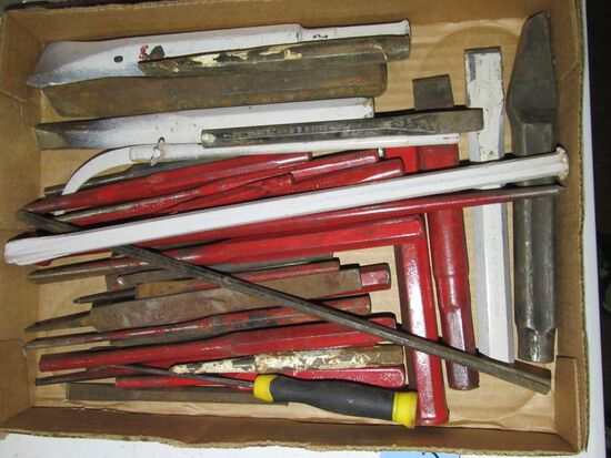 CHISELS. NAIL SETS. REAMERS AND ETC