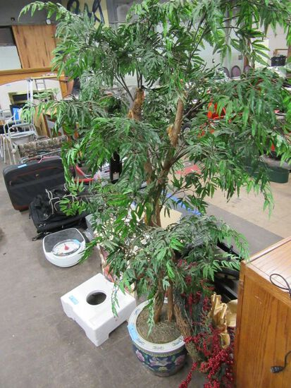 ARTIFICIAL TREE WITH ORIENTAL PLANTER