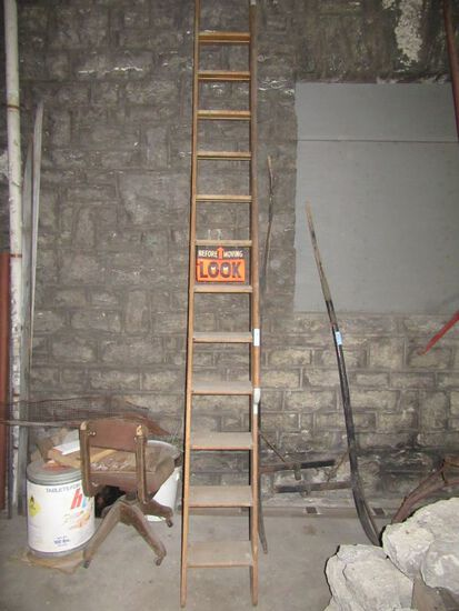 13 FOOT LIBRARY LADDER