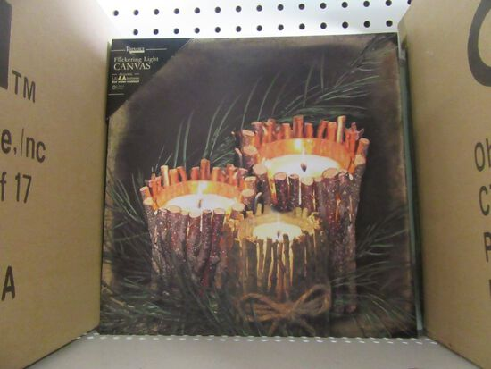 1 CASE (12 PIECES) OF LIGHTED TWIG CANDLE CANVAS