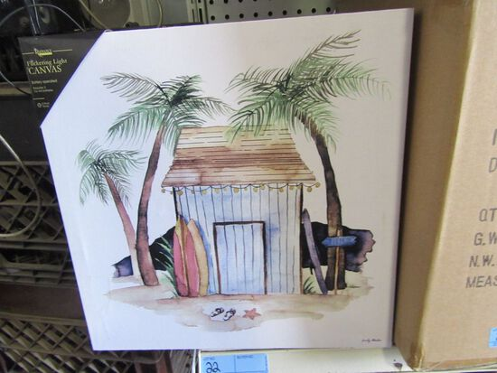 1 CASE (8 PIECES) LIGHTED TIKI HUT CANVASES