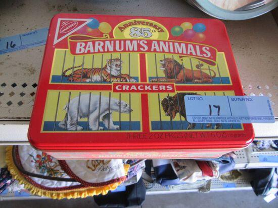 BARNUM'S ANIMAL CRACKERS TIN & BOXES
