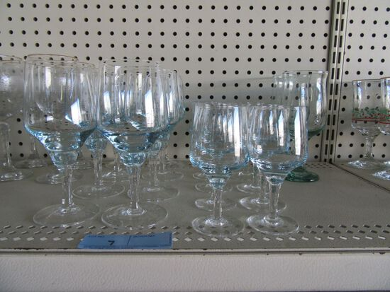 BLUE SHADOW STEMWARE AND OTHER