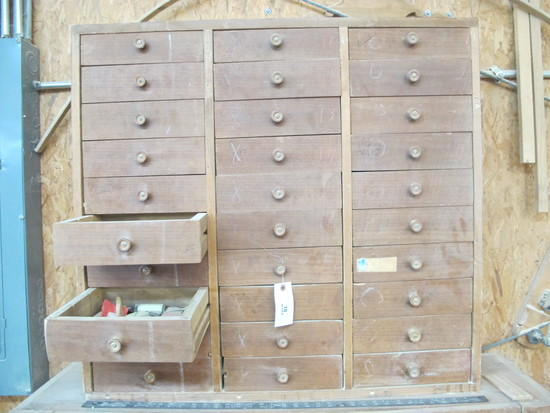 30 DRAWER WOODEN TOOL CHEST