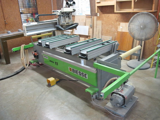 BIESSE ROVER 13 FIVE HEAD POINT TO POINT W/HORIZONTAL & VERTICAL BORING, 5