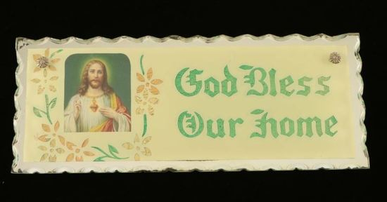 """Vintage """"God Bless Our Home"""" Picture"""