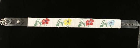 Beaded Leather Indian Belt