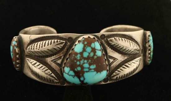 Sterling Silver & Turquoise Cuff