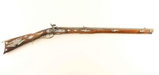 Antique Percussion Rifle .45 Cal NVSN