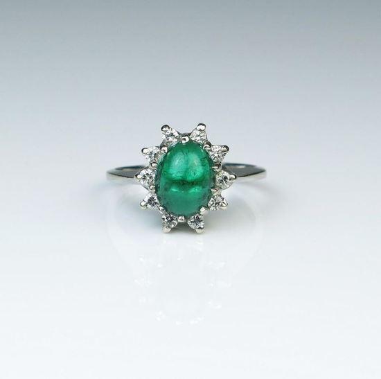 Elegant Colombian Emerald Estate Ring
